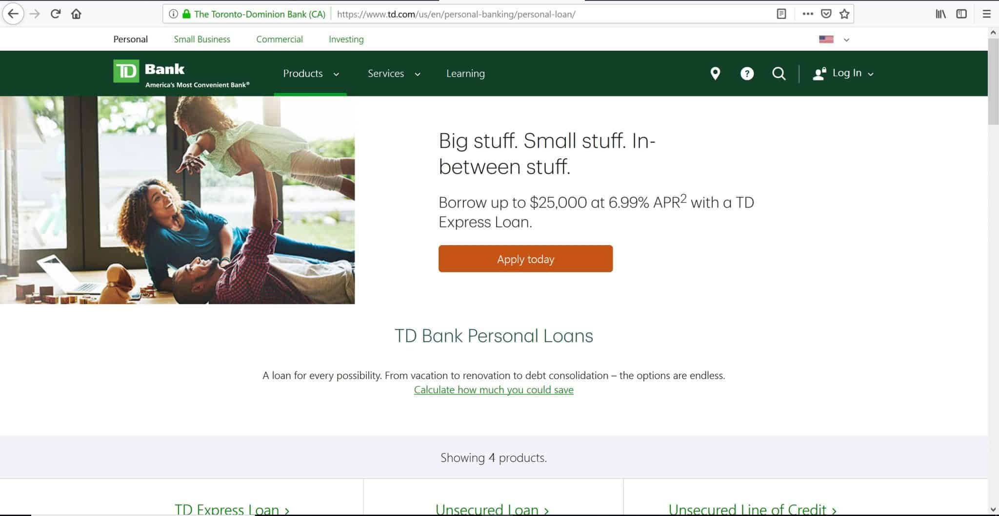 TD Personal Loans