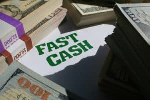 Fast Cash Written On Paper
