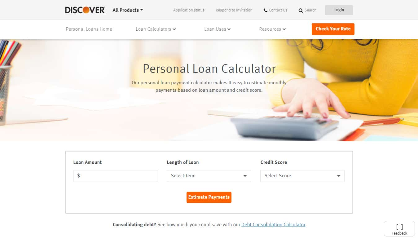 Discover Personal Loans Calculator