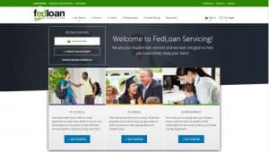 fedloan servicing webiste screenshot